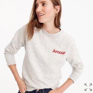 "J. Crew ""Amour"" Sweatshirt ❤️"